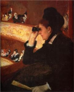 Mary Cassatt, Woman in Black at the Opera, 1879